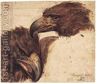 Two Studies Of The Head Of An Eagle by Giovanni (Giovanni da Udine) Nanni (Nani) - Reproduction Oil Painting