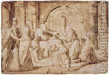 The Presentation In The Temple by - Unknown Painter - Reproduction Oil Painting