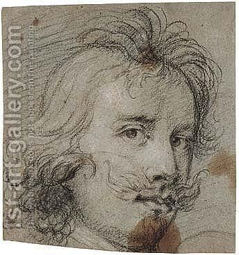 Study of a male head by (after) Sir Peter Paul Rubens - Reproduction Oil Painting