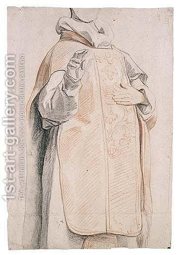 Study Of A Figure In Priest's Robes by Jacob Jordaens - Reproduction Oil Painting