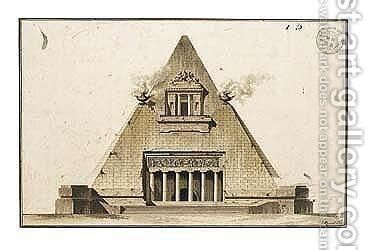 Design For A Pyramidal Tomb by Gustave Taraval - Reproduction Oil Painting