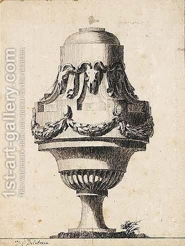 Design For A Vase by (after) Jean-Charles Delafosse - Reproduction Oil Painting