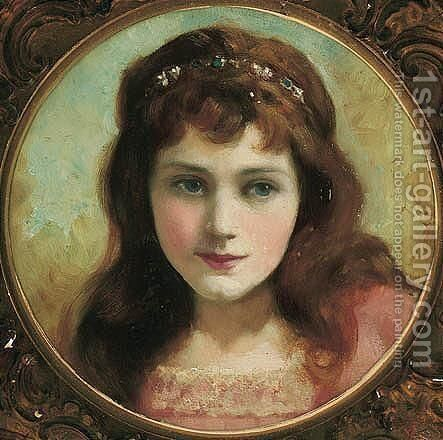 The Young Princess by Sir Frank Dicksee - Reproduction Oil Painting