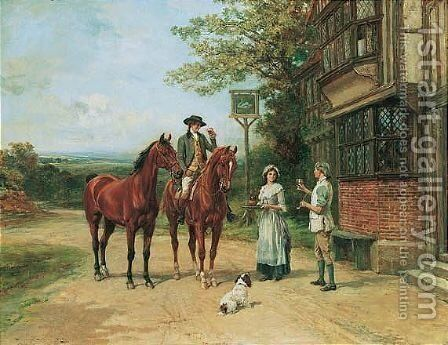 The Squire's Toast by Heywood Hardy - Reproduction Oil Painting