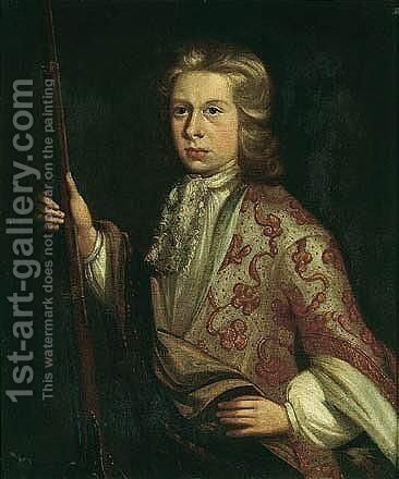 Portrait Of John Coffin (1678-1703) by (after) Kneller, Sir Godfrey - Reproduction Oil Painting