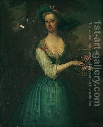 Portrait Of A Lady 5 by Charles Jervas - Reproduction Oil Painting
