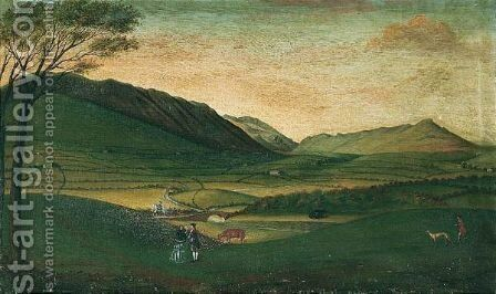 St John In The Vale, Cumberland, With Threlkeld Old Bridge View by Matthias Read - Reproduction Oil Painting