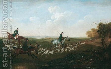 Going To Cover by (after) James Seymour - Reproduction Oil Painting
