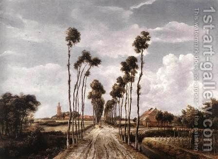 The Alley at Middelharnis 1689 by Meindert Hobbema - Reproduction Oil Painting
