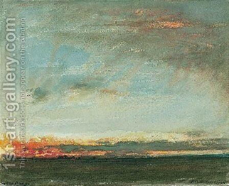 Stonehenge by Albert Goodwin - Reproduction Oil Painting