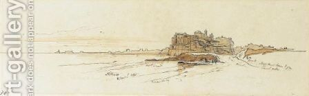 Nettuno, Southern Italy by Edward Lear - Reproduction Oil Painting