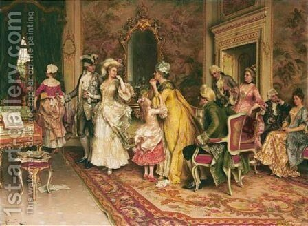 L'Attesa by Arturo Ricci - Reproduction Oil Painting
