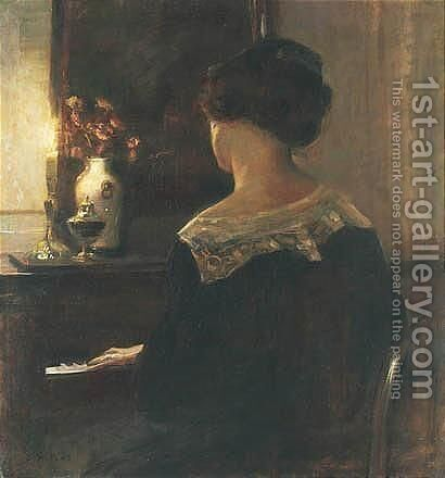 Au Piano by Carl Vilhelm Holsoe - Reproduction Oil Painting