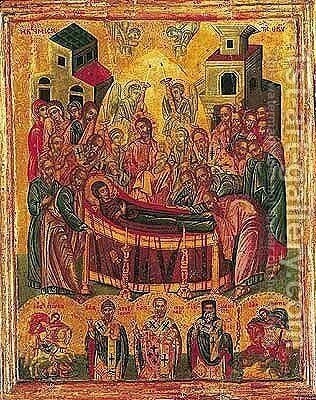 The Dormition of the Virgin by - Unknown Painter - Reproduction Oil Painting