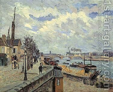 La Seine A Paris by Armand Guillaumin - Reproduction Oil Painting