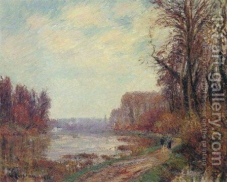 Le Chemin Au Bord De L'Oise by Gustave Loiseau - Reproduction Oil Painting