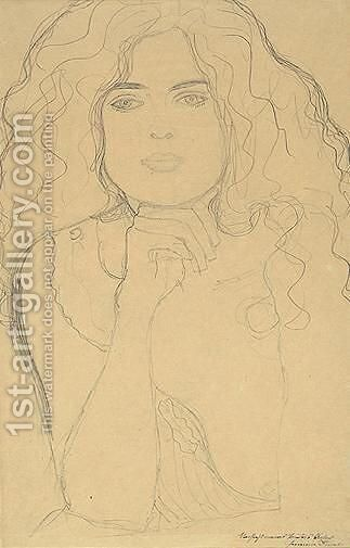 Portrait Of A Woman by Gustav Klimt - Reproduction Oil Painting