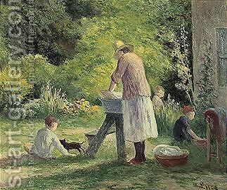 La Lessive Au Jardin by Maximilien Luce - Reproduction Oil Painting