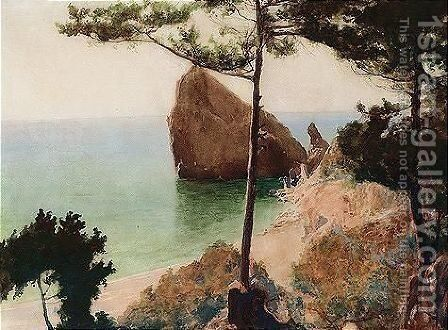 Crimean landscape, c.1910 by Mikhail Viktorovich Rundaltsov - Reproduction Oil Painting
