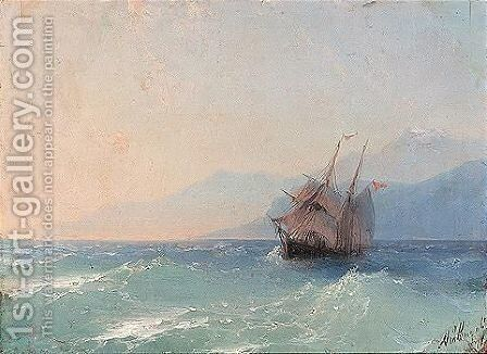 Shipping on the black sea by Ivan Konstantinovich Aivazovsky - Reproduction Oil Painting