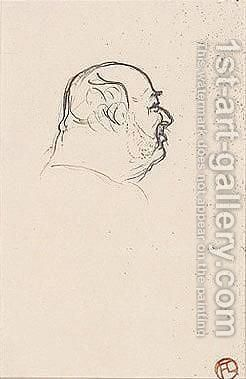 Portrait De Pierre Ducarre by Toulouse-Lautrec - Reproduction Oil Painting