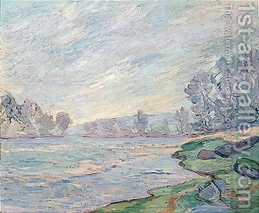 Bords De Riviere by Armand Guillaumin - Reproduction Oil Painting