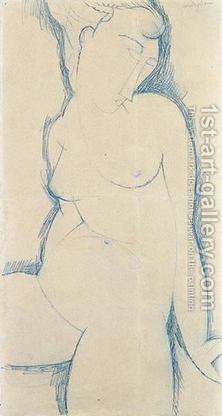 Nu Feminin by Amedeo Modigliani - Reproduction Oil Painting