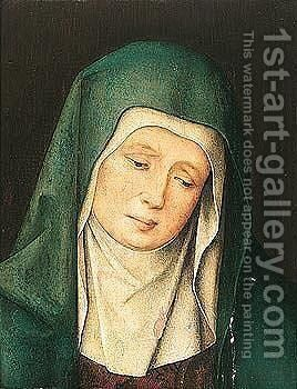 The Virgin Weeping by Jan Baegert - Reproduction Oil Painting