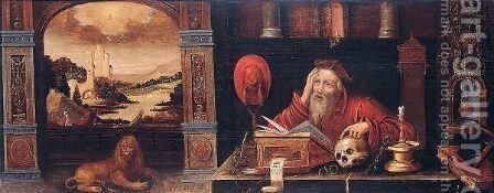 Scenes from the life of Saint Jerome by Netherlandish School - Reproduction Oil Painting