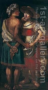 Jacob and Rachel by (after) Jan Victors - Reproduction Oil Painting