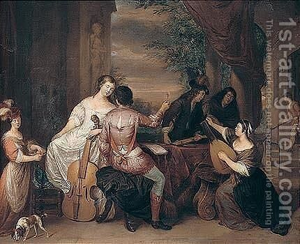 A musical party by (after) Reiner De La Haye - Reproduction Oil Painting