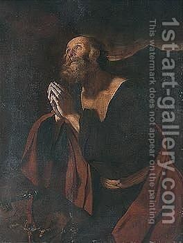 Ssaint Peter repentant by Neapolitan School - Reproduction Oil Painting