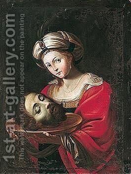 Salome with the head of Saint John the baptist by (after) Domenichino (Domenico Zampieri) - Reproduction Oil Painting
