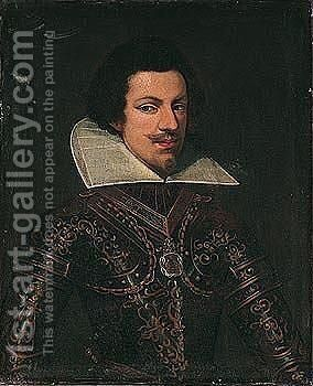 Portrait of vittorio amadeo i, duke of savoy (1587-1637) by (after) Giovanna Garzoni - Reproduction Oil Painting