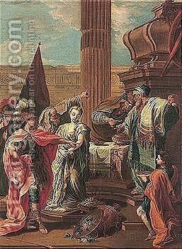 The sacrifice of Polyxena 2 by (after) Giambattista Pittoni - Reproduction Oil Painting