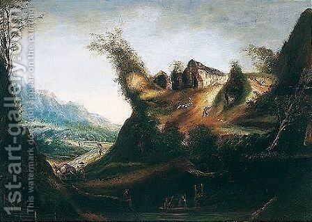 An anthropomorphic landscape by (after) Giuseppe Arcimboldo - Reproduction Oil Painting