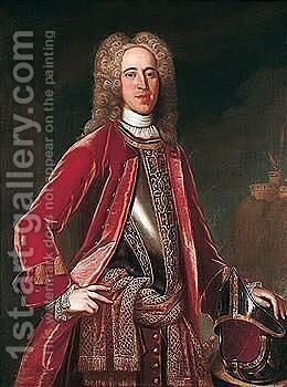 Portrait Of Field-marshall George Wade (1673-1748) by Johann Van Diest - Reproduction Oil Painting