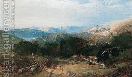 A View Of Perthshire by Henry Bright - Reproduction Oil Painting