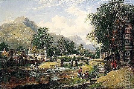 Beddgelert, North Wales by Arthur Perigal - Reproduction Oil Painting