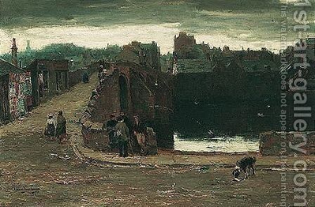 The Auld Brig O' Ayr by David Farquharson - Reproduction Oil Painting