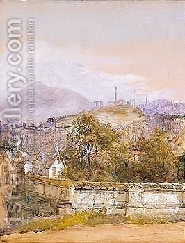 View Of Edinburgh by Jane Stewart Smith - Reproduction Oil Painting