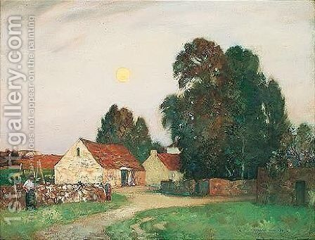 Harvest Moon by James Whitelaw Hamilton - Reproduction Oil Painting