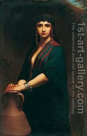 L'Orientale 2 by Charles Zacharie Landelle - Reproduction Oil Painting