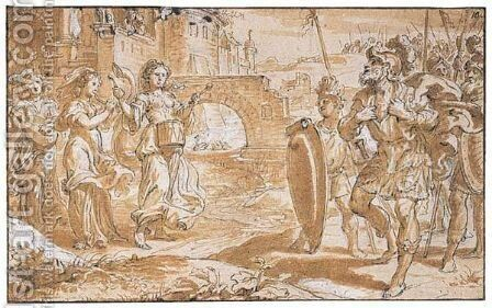 Untitled by Abraham Jansz. van Diepenbeeck - Reproduction Oil Painting