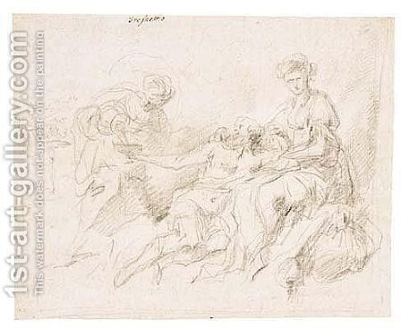 Untitled by (after) Giovanni Battista Castiglione - Reproduction Oil Painting