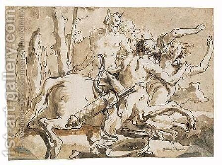Untitled by Giovanni Domenico Tiepolo - Reproduction Oil Painting