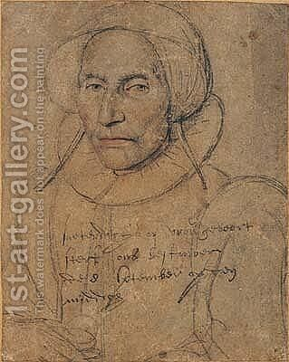 Portrait of an elderly woman by Dutch School - Reproduction Oil Painting