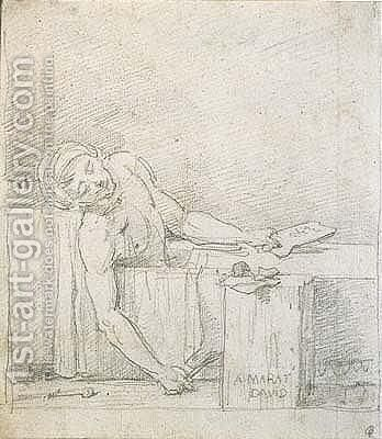 The death of marat 2 by Jacques Louis David - Reproduction Oil Painting