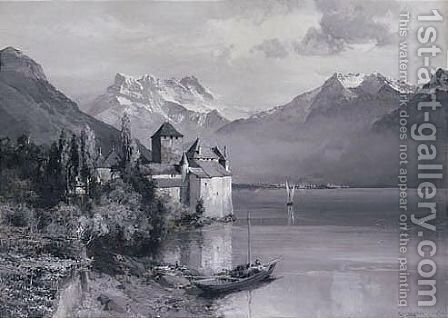 Montreux by Edward Thomas Compton - Reproduction Oil Painting