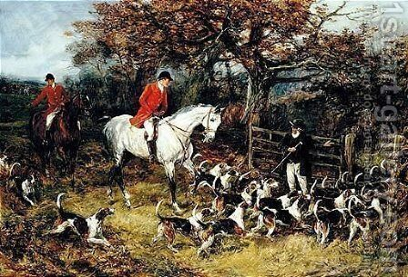 Drawing The Covert by Heywood Hardy - Reproduction Oil Painting